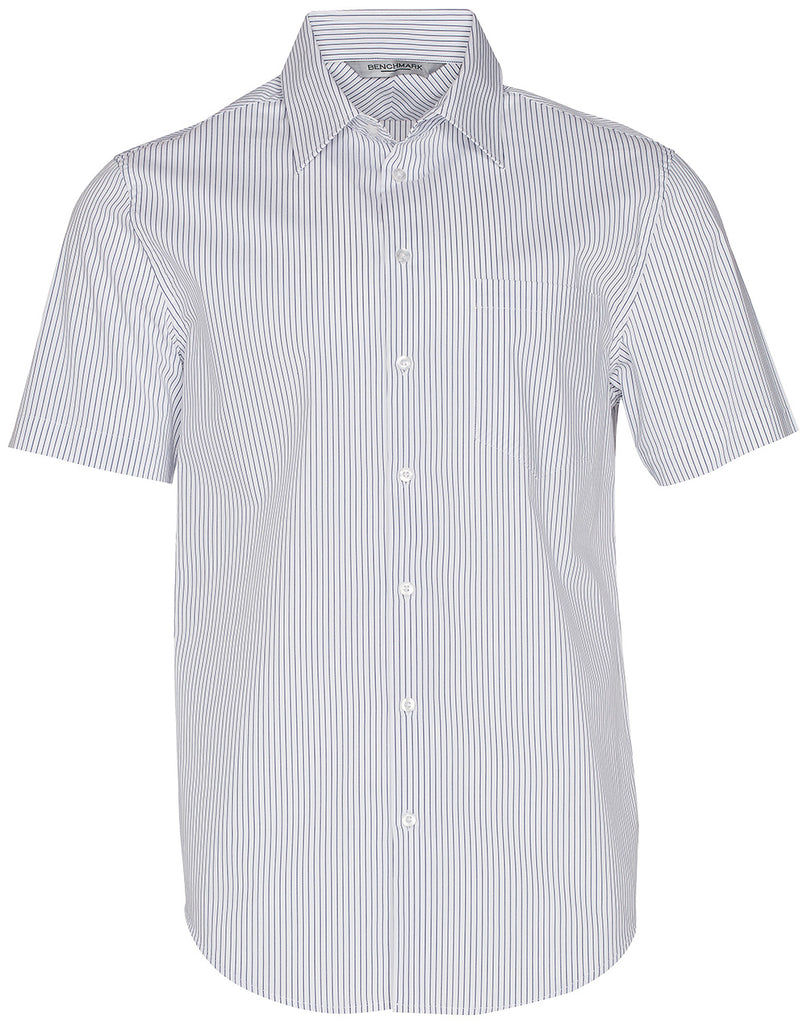 Winning Spirit Men's Ticking Stripe Short Sleeve Shirt (M7200S)