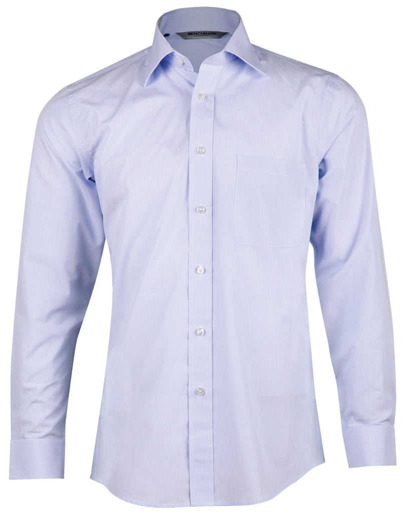 Winning Spirit Men's Mini Check Premium Cotton Long Sleeve Shirt (M7362)