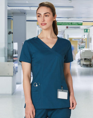 Wining Spirit  Ladies Scrub Top (M7640)