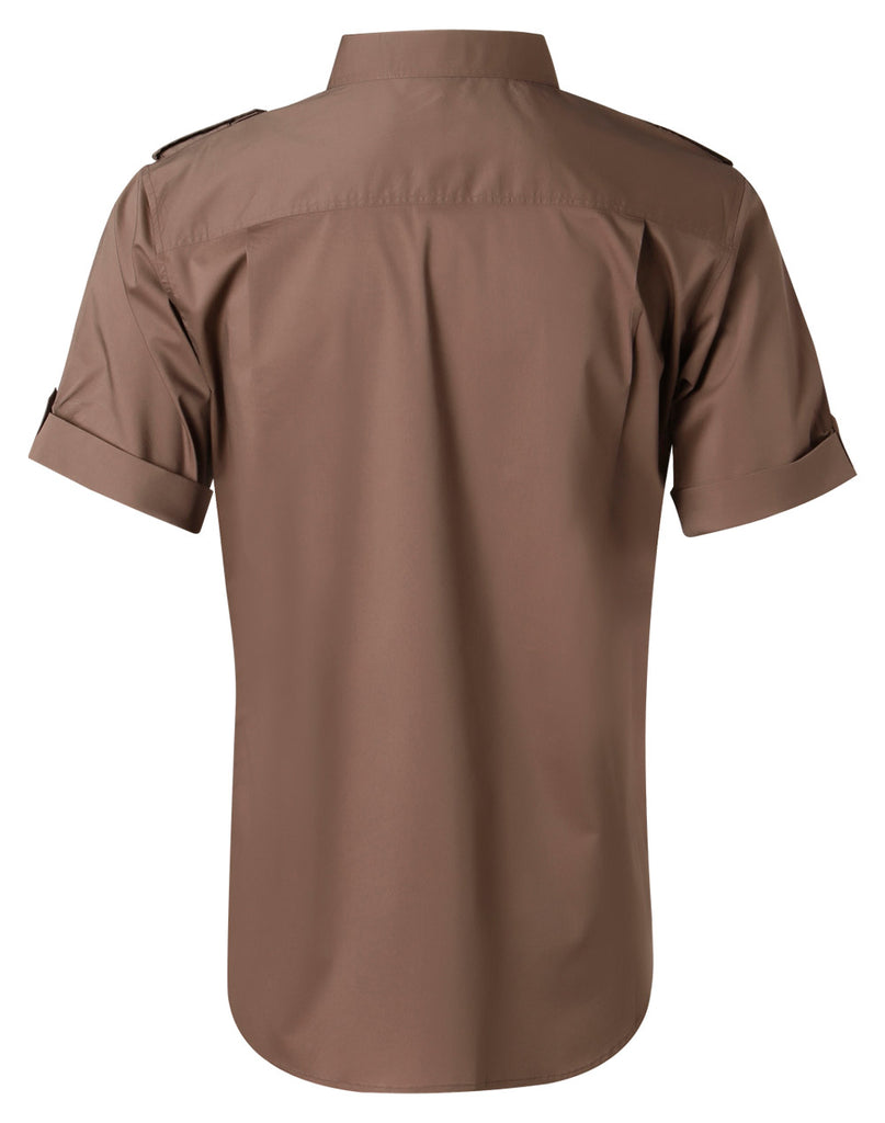 Winning Spirit Men's Short Sleeve Military Shirt (M7911)
