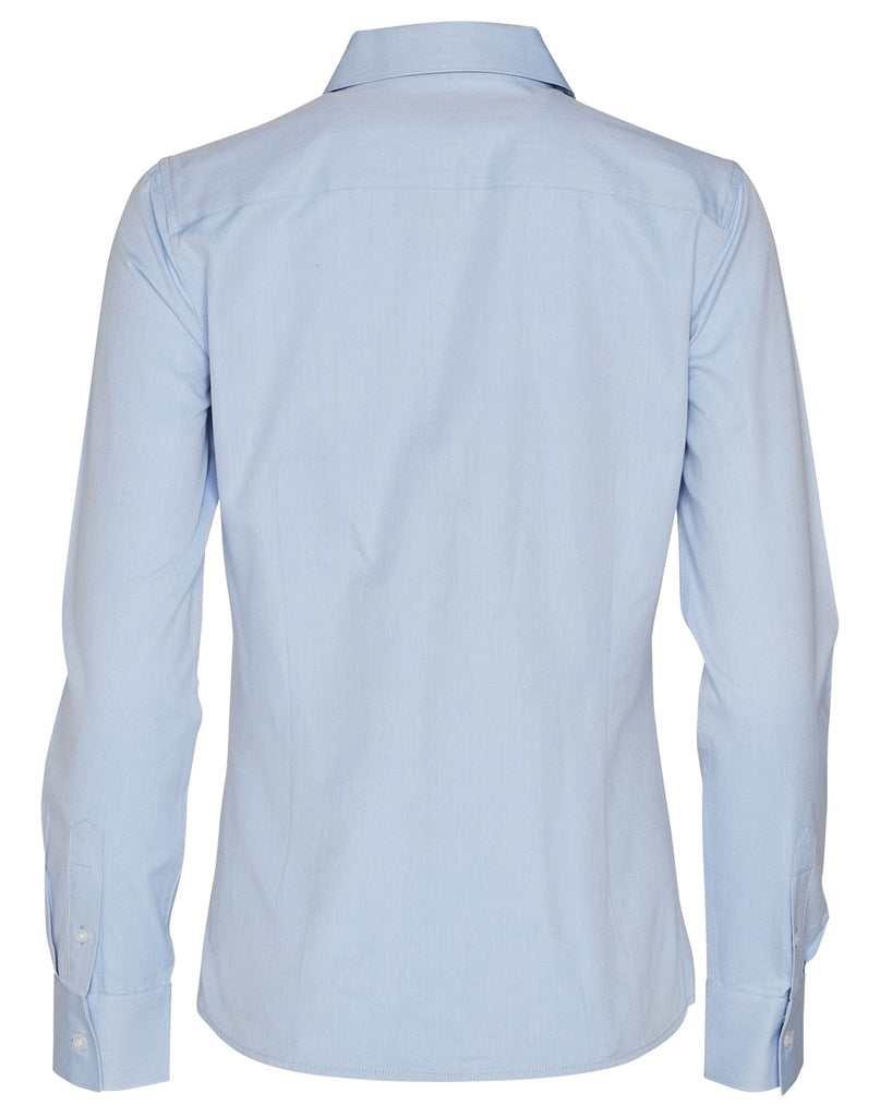 Winning Spirit  Women's Pinpoint Oxford Long Sleeve Shirt (M8005L)