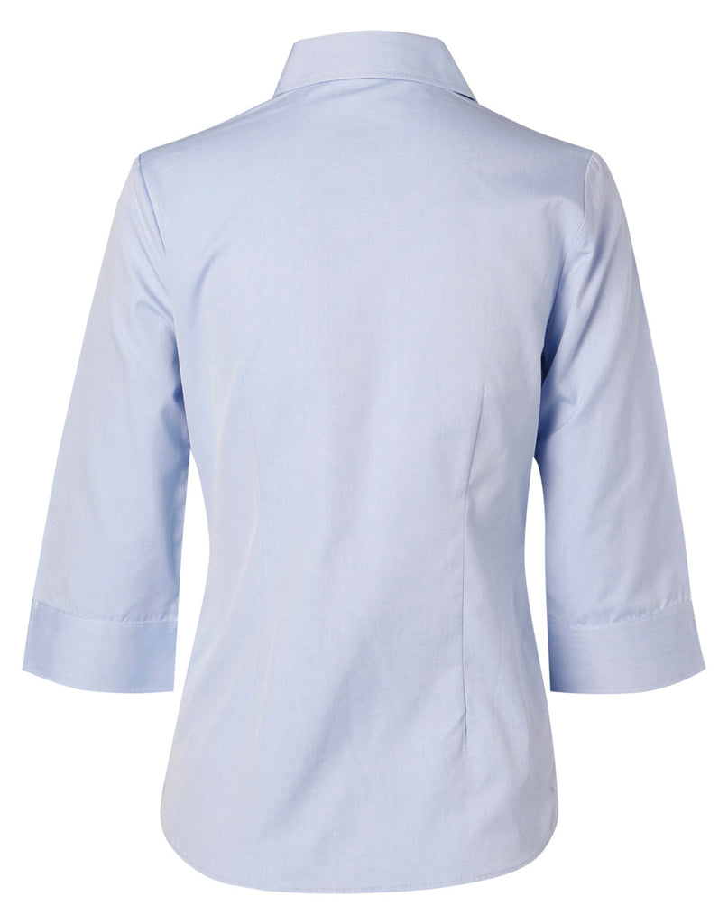 Winning Spirit Women's Fine Chambray 3/4 Sleeve Shirt (M8013)