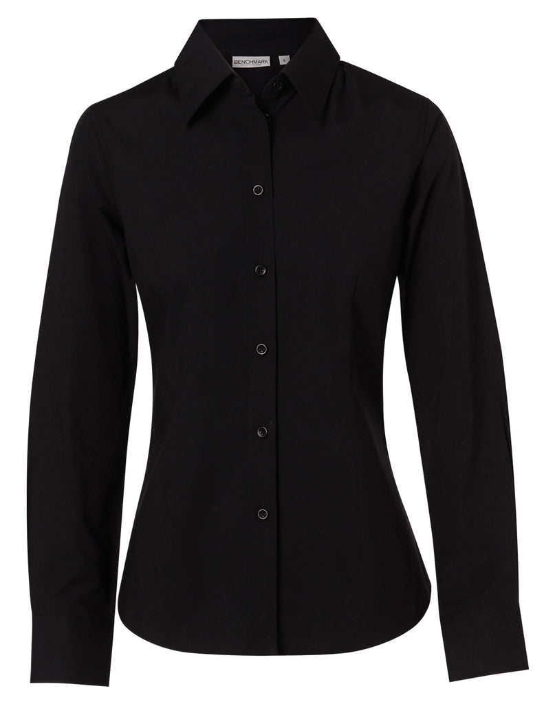 Winning Spirit  Women's Cotton/Poly Stretch Long Sleeve Shirt (M8020L)