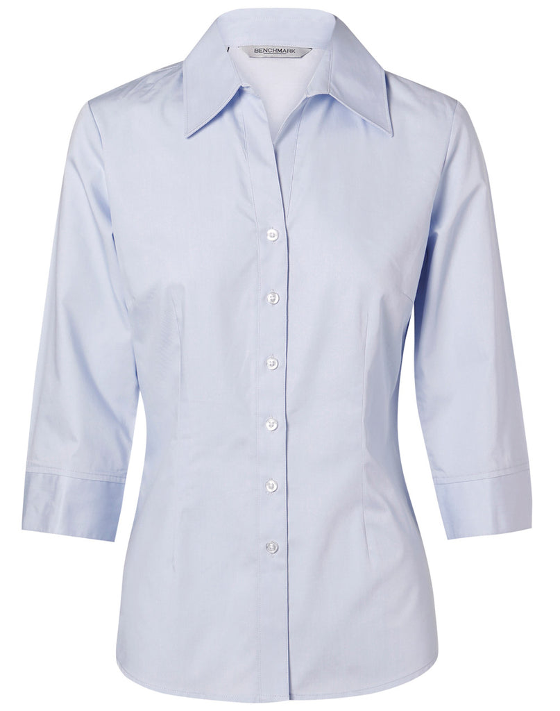 Winning Spirit Women's Fine Twill 3/4 Sleeve Shirt (M8030Q)