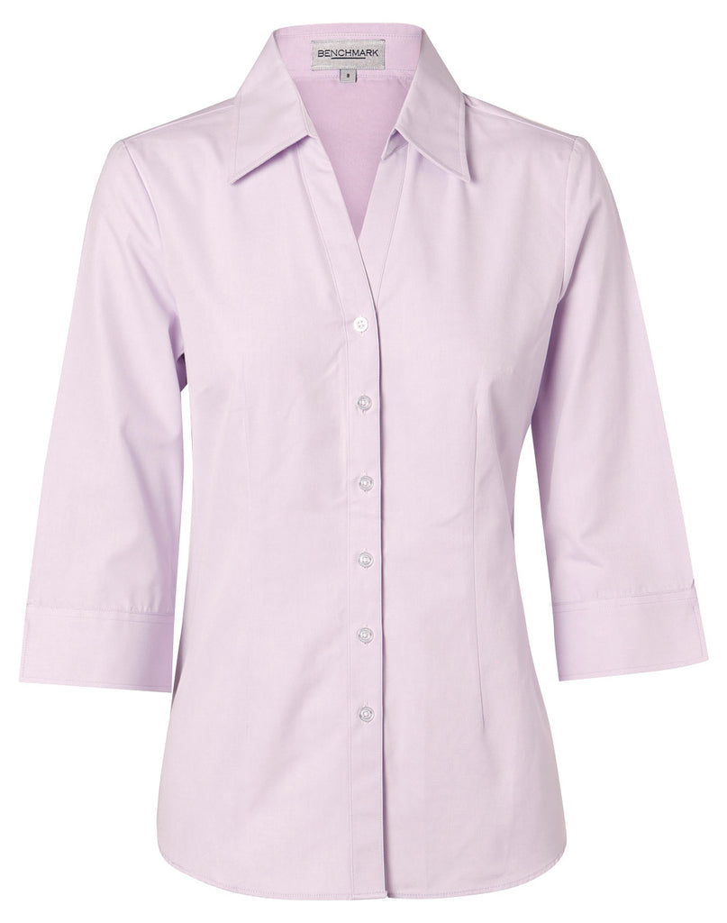 Winning Spirit Women's CVC Oxford 3/4 Sleeve Shirt (M8040Q)