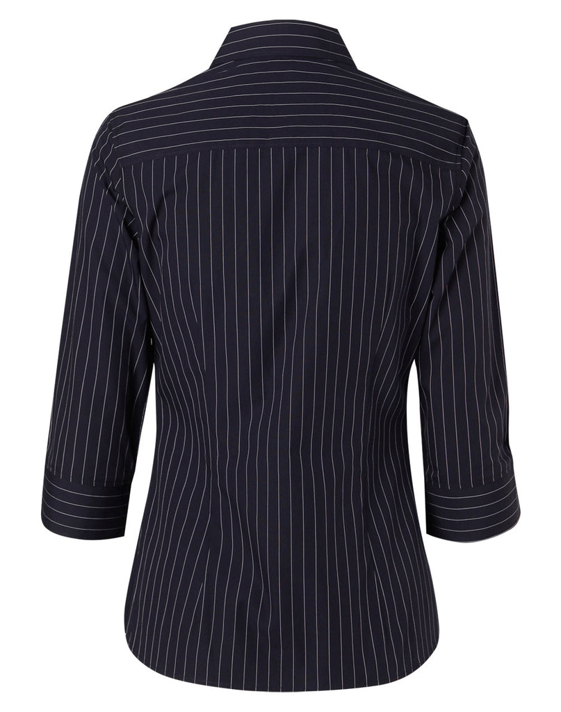Winning Spirit Women's Pin Stripe 3/4 Sleeve Shirt (M8223)