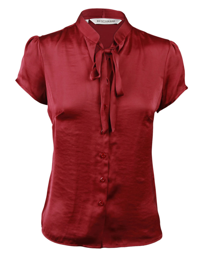 Winning Spirit Women's Tie Neck Blouse (M8810)