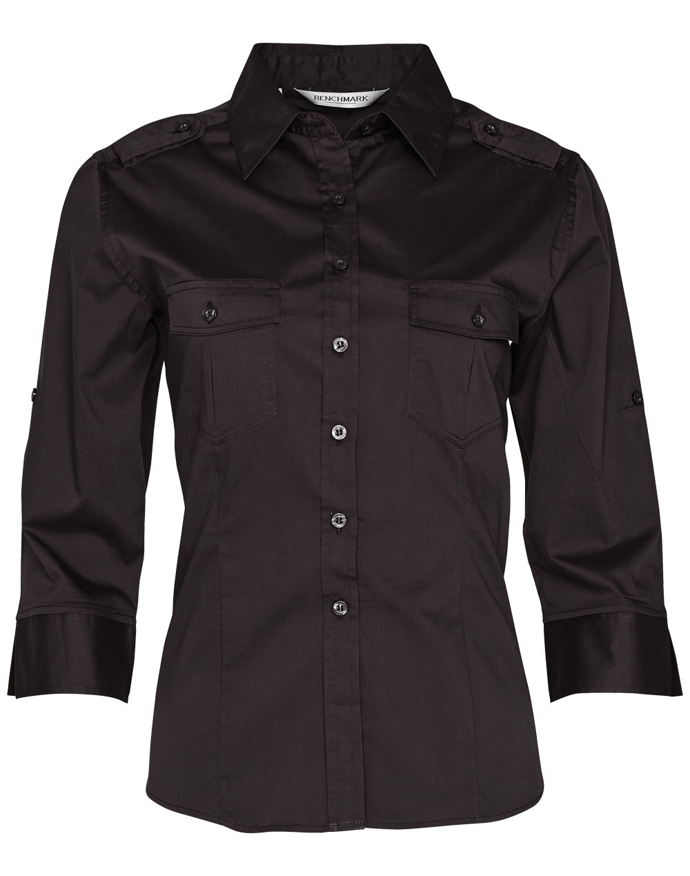 Winning Spirit Women's 3/4 Sleeve Military Shirt (M8913)