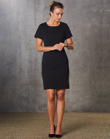 Winning Spirit Ladies' Poly/Viscose Stretch, Short Sleeve Dress (M9282)