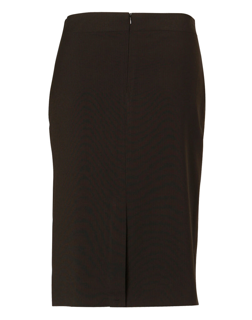 Winning Spirit Women's Poly/Viscose Stretch Stripe Mid Length Lined Pencil Skirt (M9472)