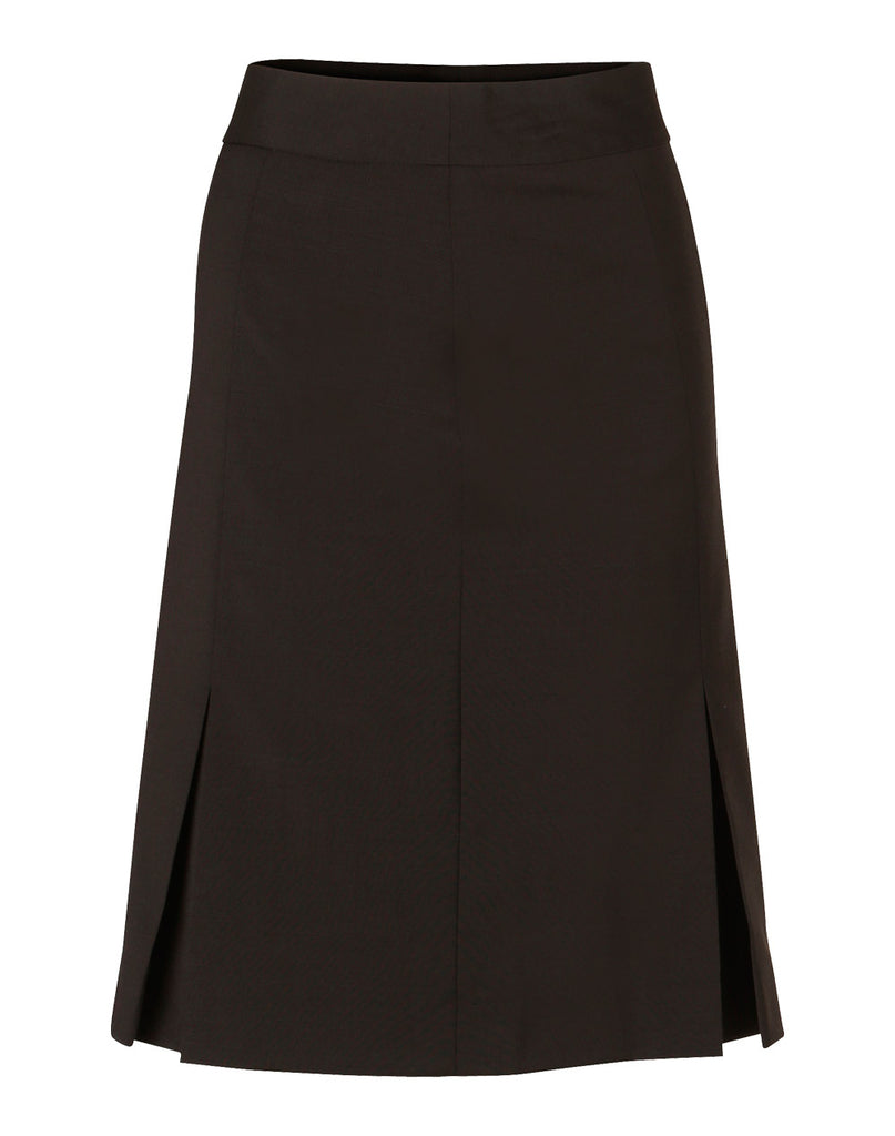 Winning Spirit Women's Pleated Skirt in Wool Stretch (M9473)