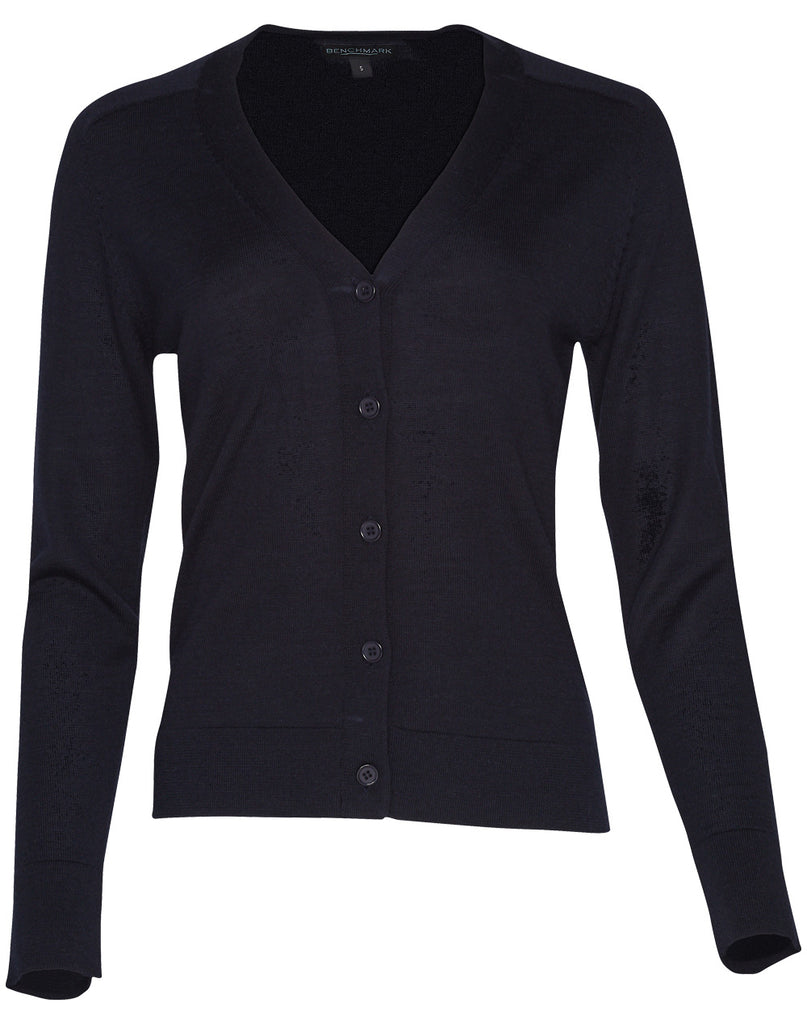 Winning Spirit Women's V-Neck Long Sleeves Cardigan (M9602)