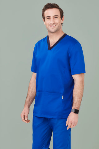 Biz Care Mens Riley V-neck Scrub Top (CST043MS)
