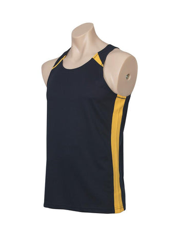 Biz Collection Mens Splice Singlet 2nd ( 4 Colour ) (MV903)