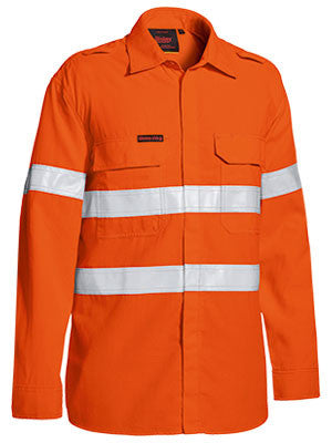 Bisley Tencate Tecasafe Plus Taped Hi Vis FR Lightweight Vented Long Sleeve Sirt-(BS8238T)