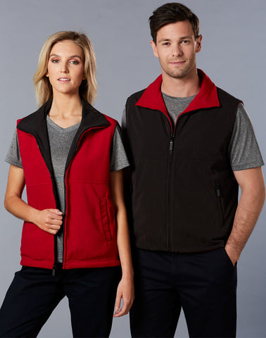Winning Spirit Unisex Shower Proof Micro Fibre/ Polar Fleece Reversible Vest (PF04A)