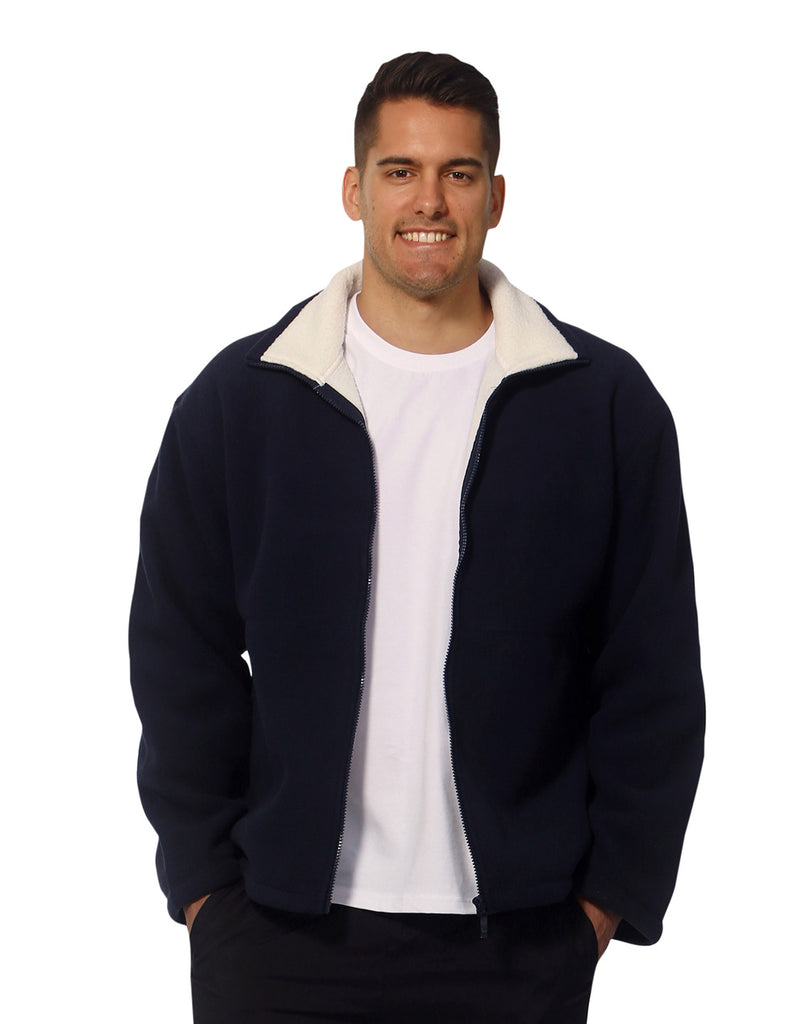 Winning Spirit Men's Shepherd Polar Fleece Contrast Jacket (PF15)