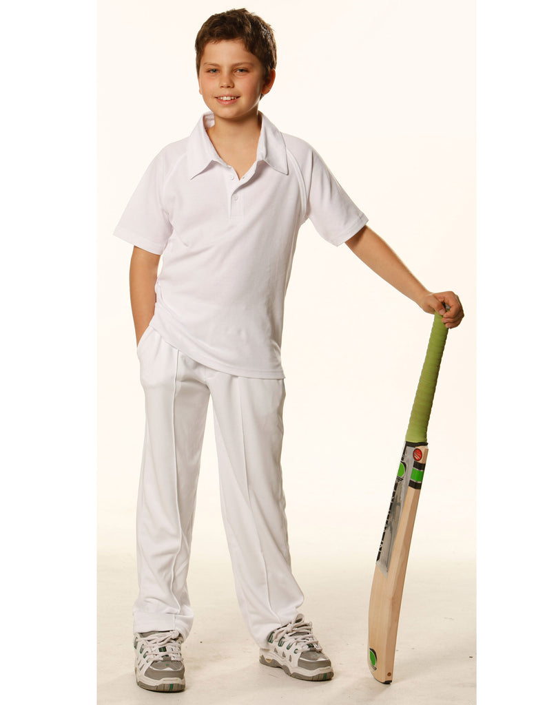 Winning Spirit Kids Short Sleeve Cricket Polo (PS29K)