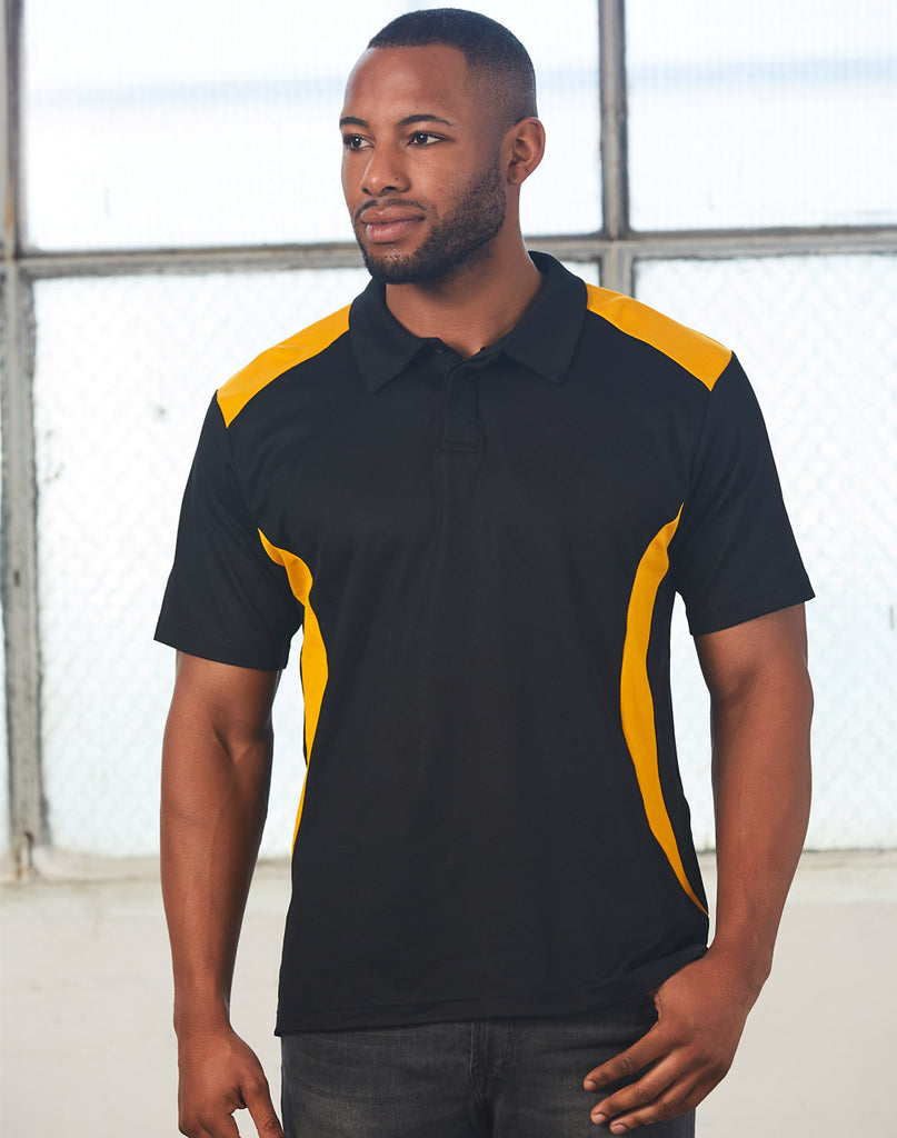 Winning Spirit Men's TrueDry® Contrast Short Sleeve Polo 1st (10 colour) (PS31)