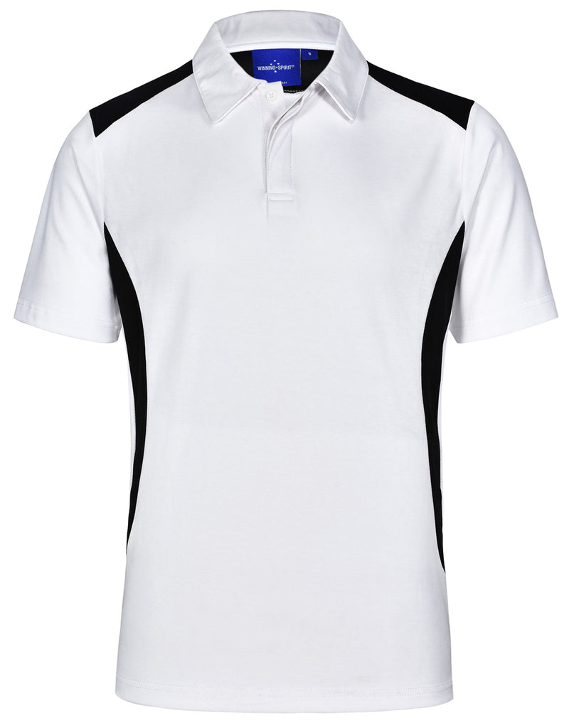 Winning Spirit Men's TrueDry® Contrast Short Sleeve Polo 2nd (4 colour) (PS31)