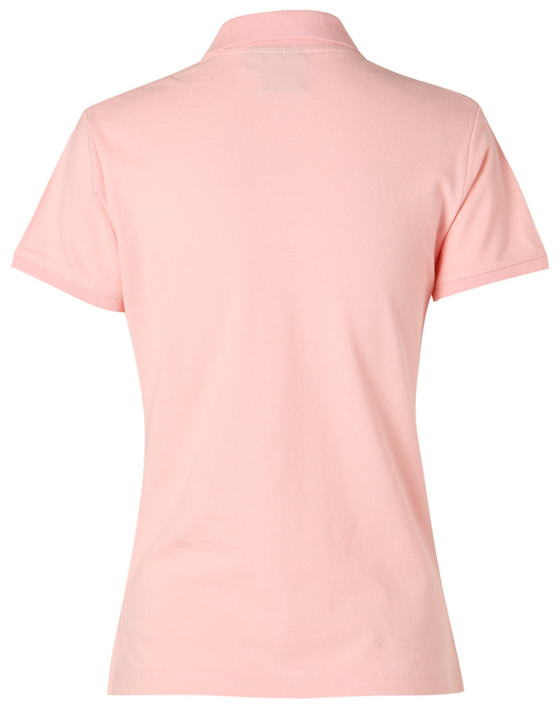 Winning Spirit Ladies' Short Sleeve Cotton/Elastane Polo 1st (8 colour) (PS40)
