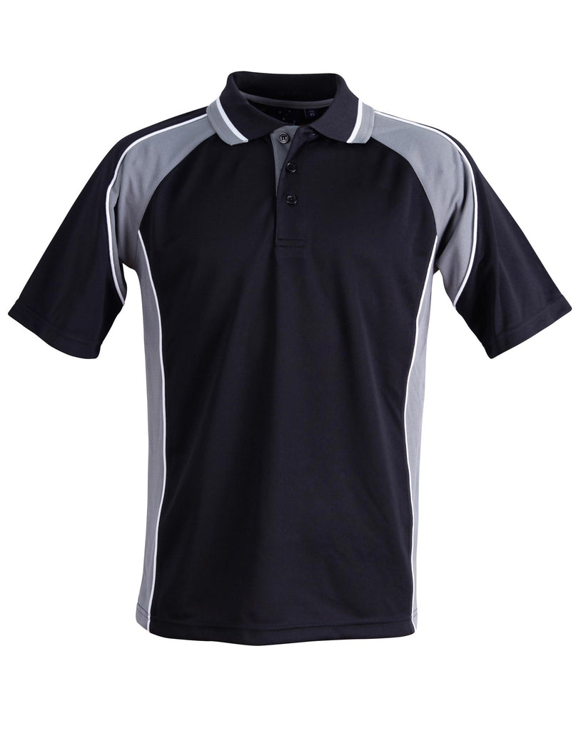 Winning Spirit Men's CoolDry® Short Sleeve Contrast Polo (PS49)