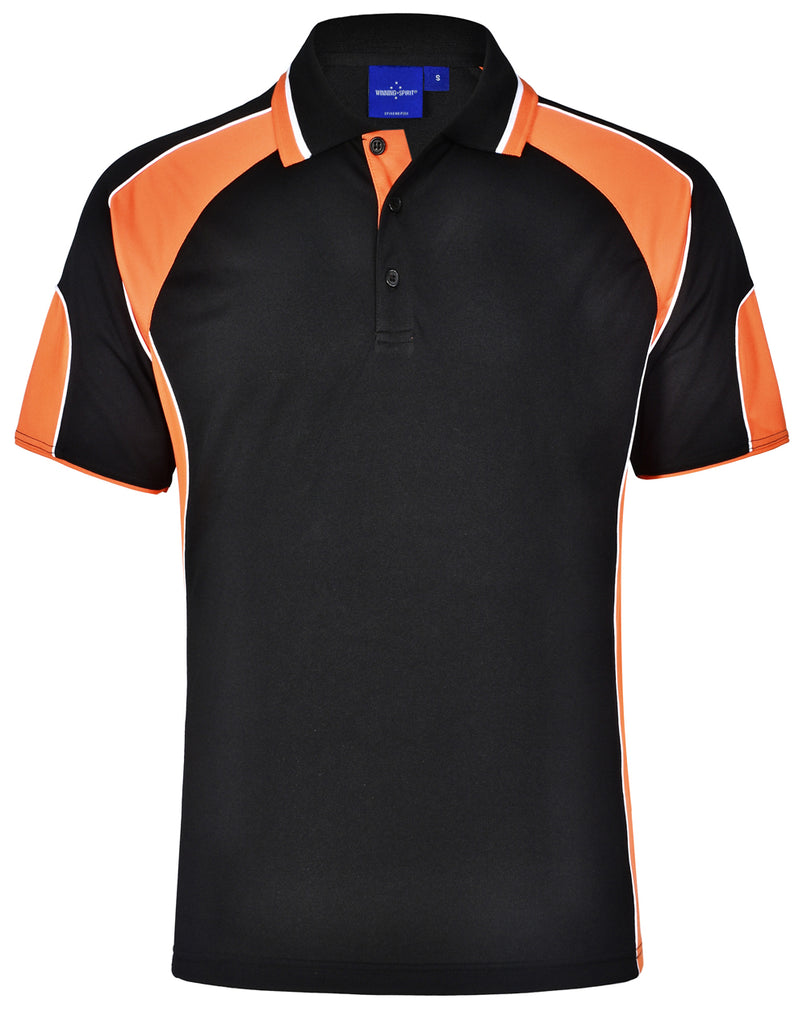 Winning Spirit Alliance Kids Cooldry Contrast Short Sleeve With Sleeve Panels Polo (PS61K)