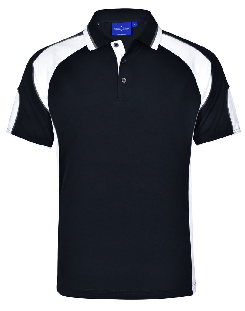 Winning Spirit Men's CoolDry® Contrast Polo with Sleeve Panels 1st (11 Colour) (PS61)