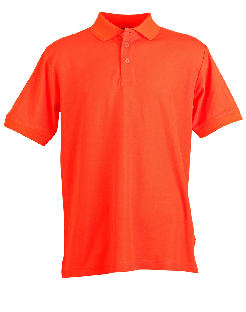 Winning Spirit Men's TrueDry® Solid Colour Pique Polo 1st (12 Colour) (PS63)