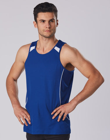 Winning Spirit Men's Truedry Fashion Singlet (SL53)