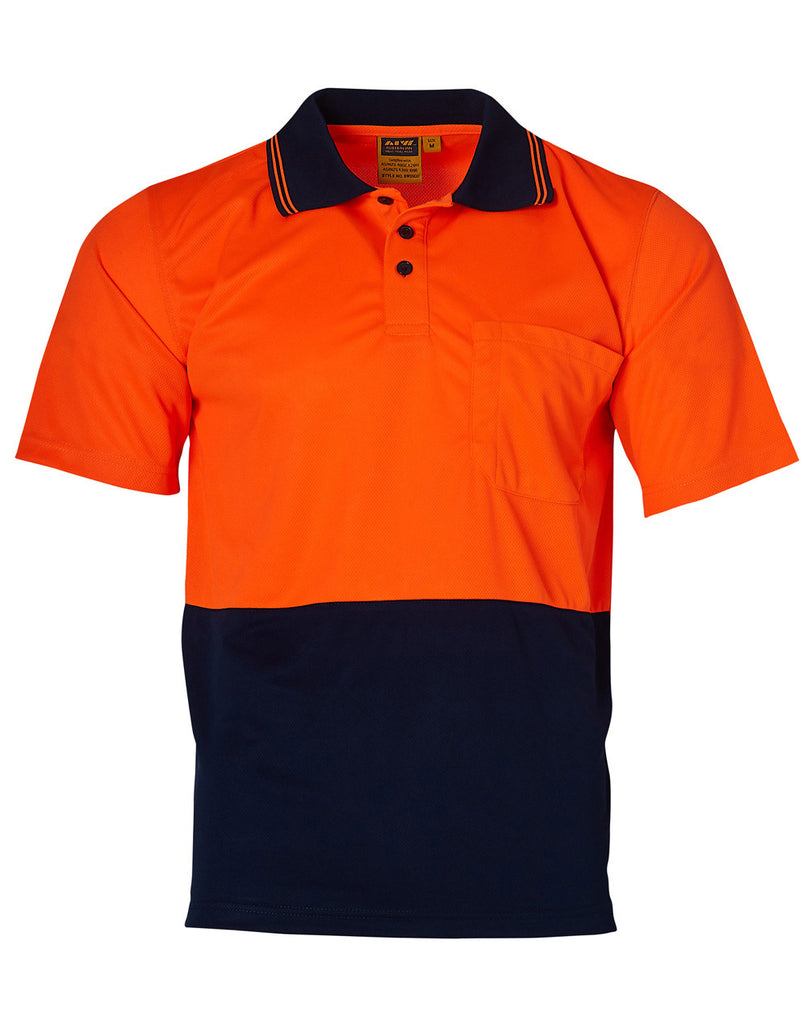 Winning Spirit Hi Visibility Short Sleeve Truedry Micro-Mesh Safety Polo (SW01TD)