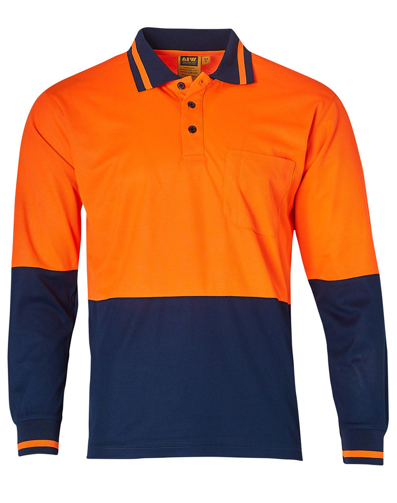 Winning Spirit TrueDry Long Sleeve Safety Polo (SW11)