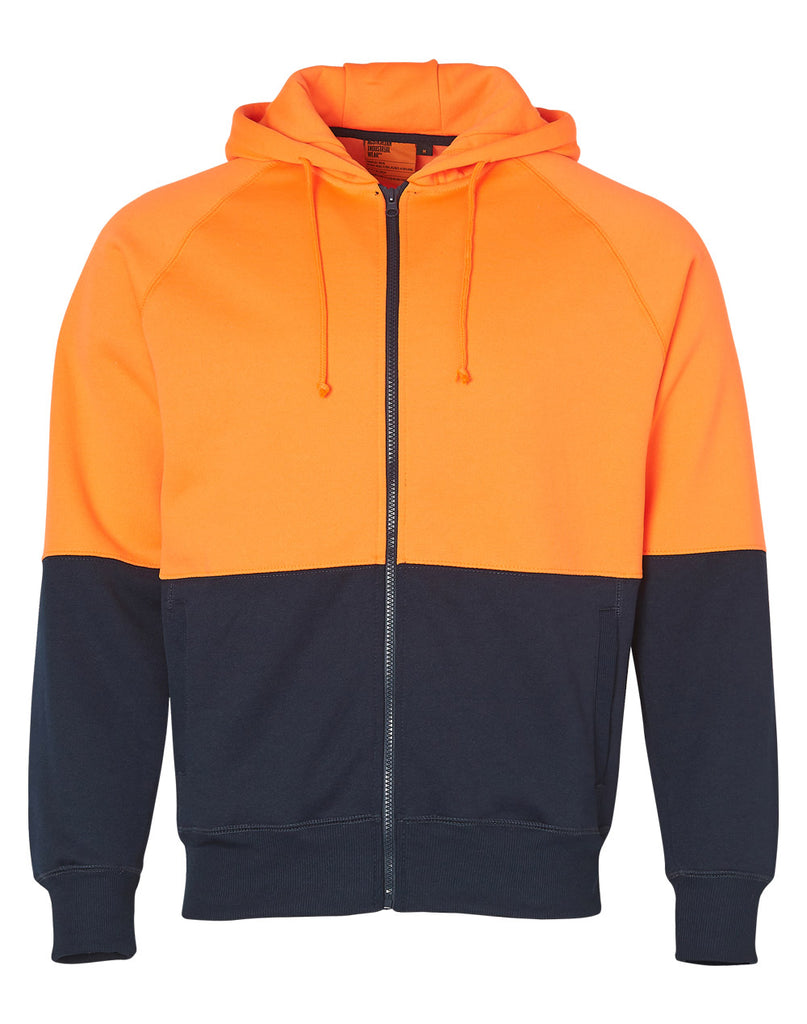 Winning Spirit Men's High Visibility Two Tone Fleecy Hoodie (SW24)