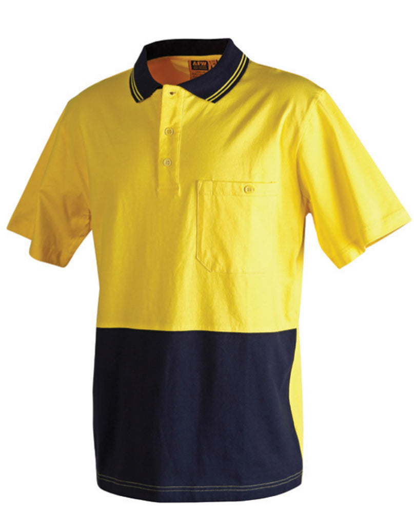 Winning Spirit 100% Cotton Jersey Safety Polo (SW35)