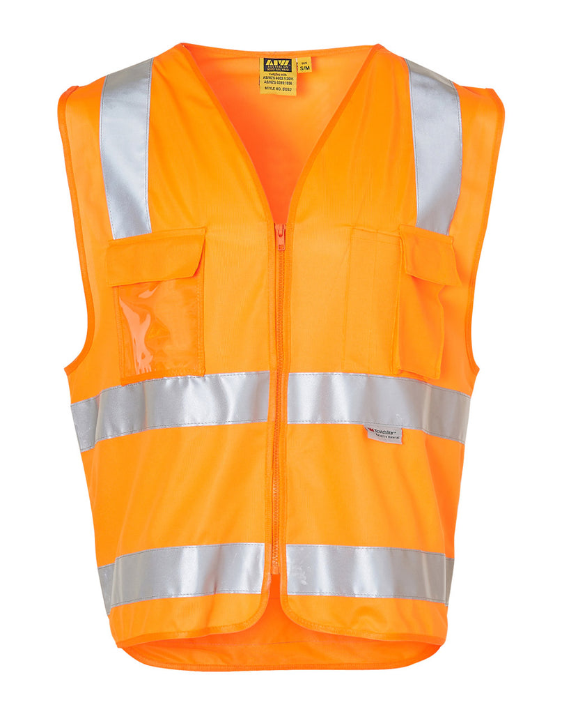 Winning Spirit Hi-vis Safety Vest With Id Pocket & 3M Tapes (SW42)