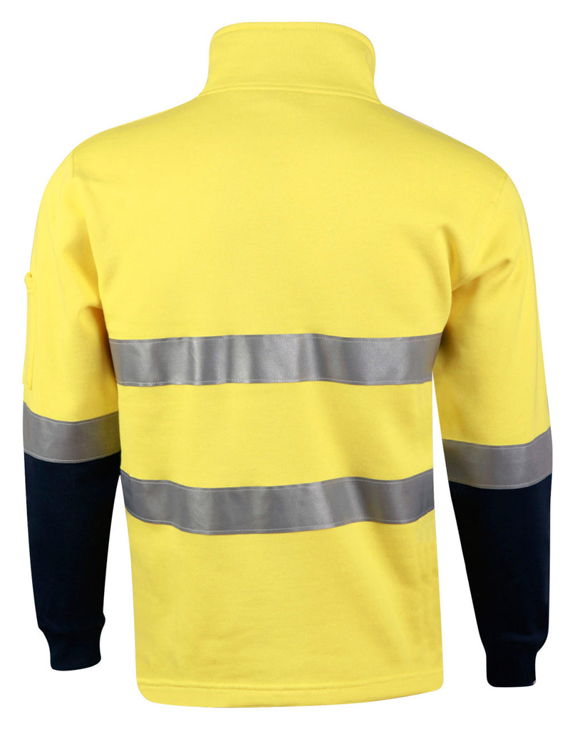 Winning Spirit Hi-vis Two Tone Cotton Fleecy Sweat (SW48)