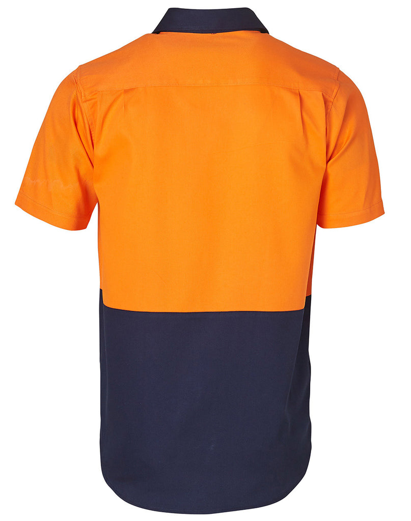 Winning Spirit High Visibility Short Sleeve Work Shirts (SW53)