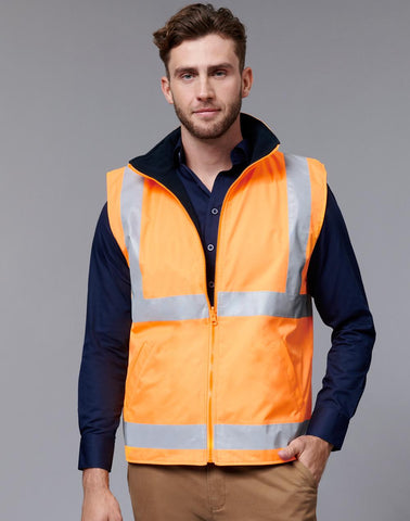 Winning Spirit VIC Rail Hi Vis Reversible Safety Vest - Unisex (SW76)