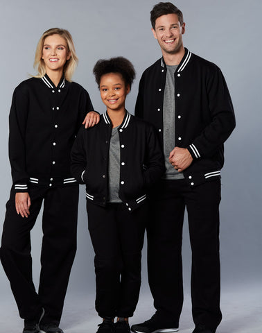 Winning Spirit Unisex' Traditional Fleece Trackpants, no zip, cuffs & Knee pads (TP01A)