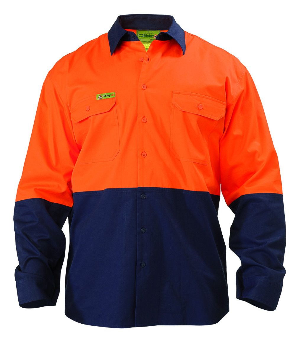 Bisley Insect Protection 2 Tone Cool Light Weight Drill Shirt-(VRS6895)
