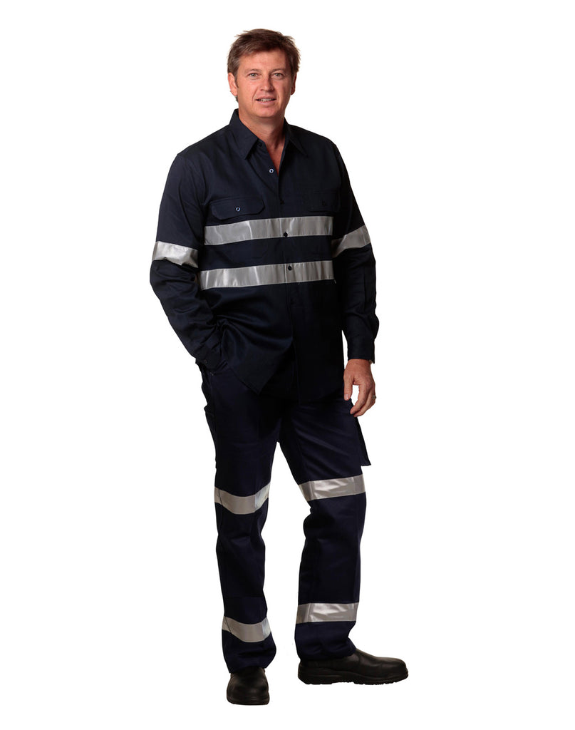 Winning Spirit Men's Heavy Cotton Pre-shrunk Drill Pants with 3M Tapes (WP08HV)