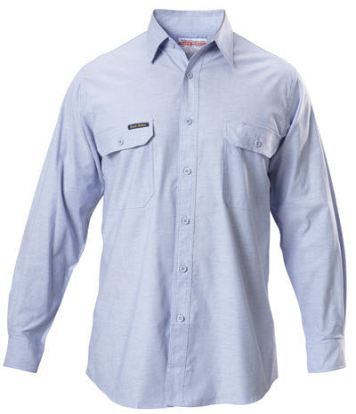Hard Yakka Cotton Chambray Shirt Long Sleeve (Y07528)