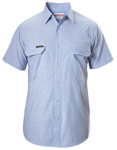 Hard Yakka Cotton Chambray Shirt Short Sleeve (Y07529)