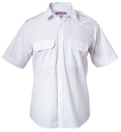 Hard Yakka Permanent Press Poly Cotton Shirt With Epaulettes Short Sleeve (Y07691)
