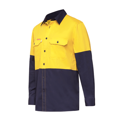 Hard Yakka Koolgear Ventilated LS Hi Vis Shirt (Y07730)