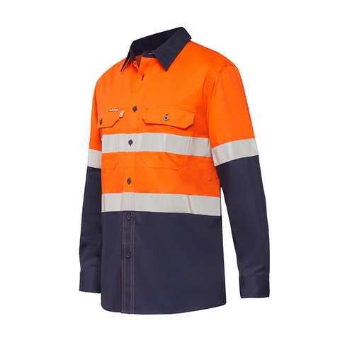 Hard Yakka Koolgear Ventilated LS Hi Vis Shirt With Tape (Y07740)