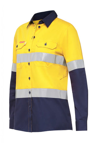 Hard Yakka Koolgear WM Ventilated LS Hi Vis Shirt With Tape (Y08220)