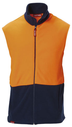 Hard Yakka Hi-visibility Two Tone Polar Fleece Vest