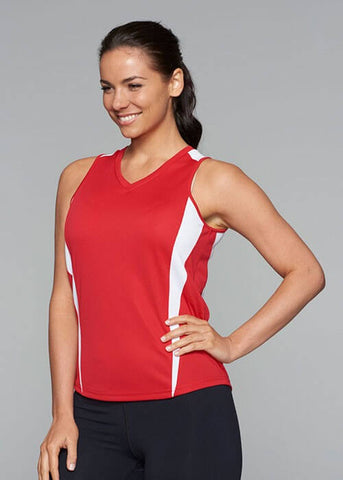 Aussie Pacific Eureka Ladies Singlets 2nd (10 Colour )-(2104)