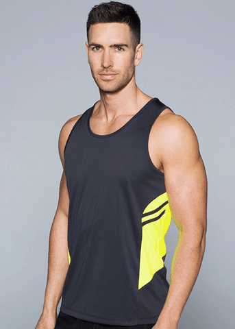 Aussie Pacific Mens Tasman Singlet(3rd 8 color)-1111)